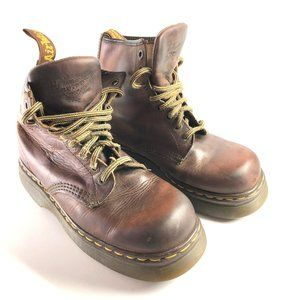 DR MARTENS AIR WAIR 8 Eye Leather Ankle Boots ~ 7